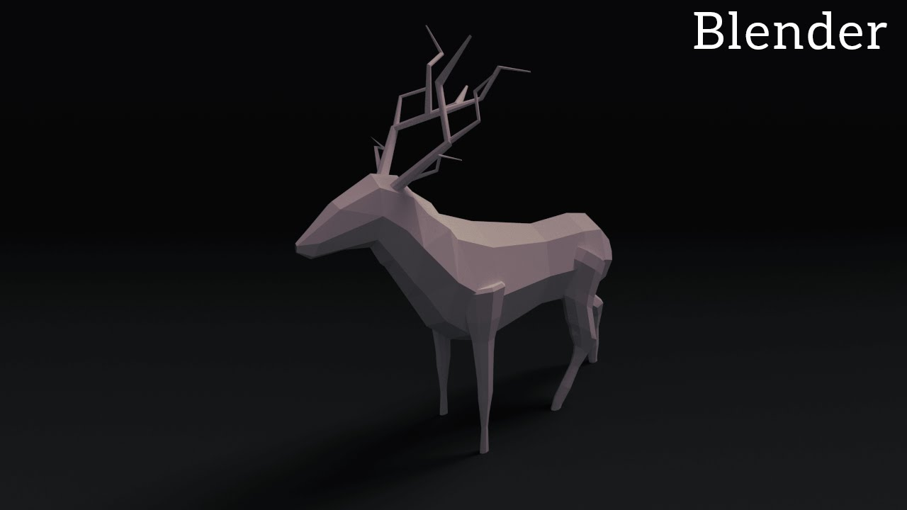 Animated Running Horse Wallpaper Blender Tutorial Low Poly Animals Youtube