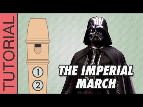 Star Wars - Imperial March - Recorder Notes Tutorial