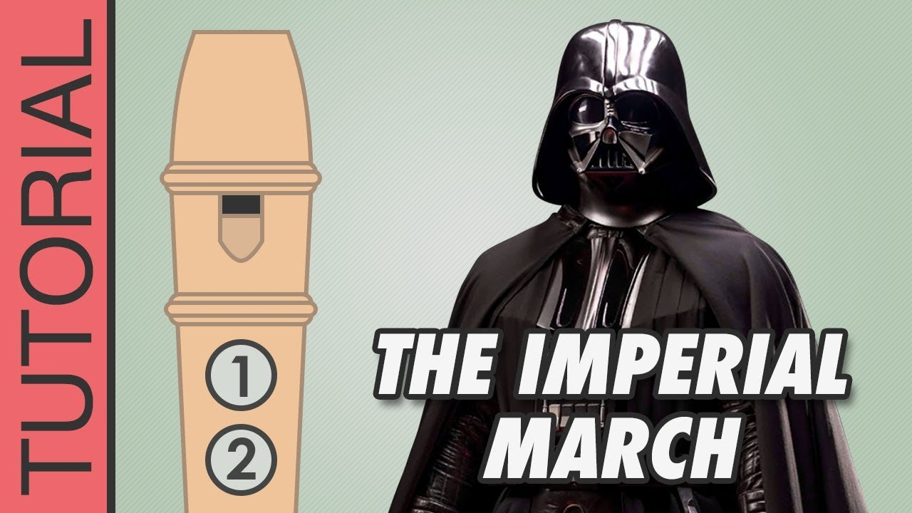 Star Wars Imperial March Recorder Notes Tutorial Youtube