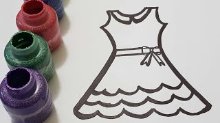 Learn colors princess dress drawing & painting crayola washable paints