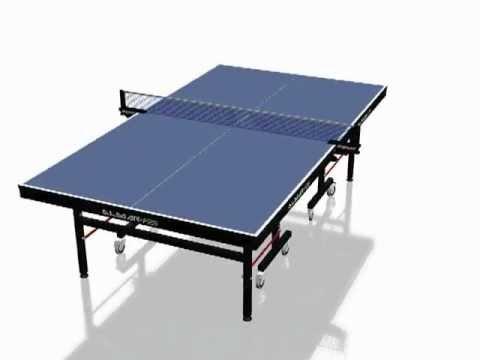 bfc5bae0b Secuencia de armado de una mesa de ping pong Almar - YouTube