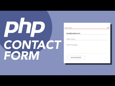 Working Contact Form In PHP With Validation & Email Sending