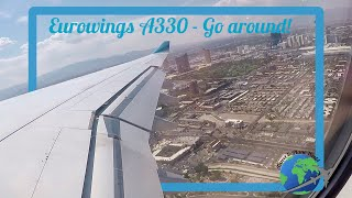 GO AROUND ! Eurowings A330 GO AROUND at Las Vegas Airport |Amazing Sound [FULLHD]