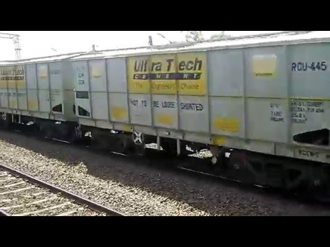 INDIAN RAILWAY CARRYING ULTRATECH CEMENT