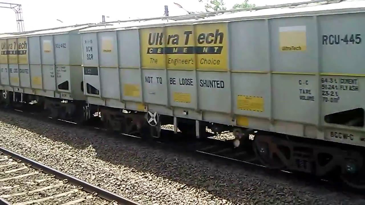 Ultratech Cement Bag Types : Indian railway container carrying ultratech cement youtube