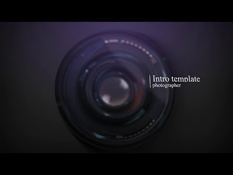 Intro template Photography Logo - Free Download After Effects Templates