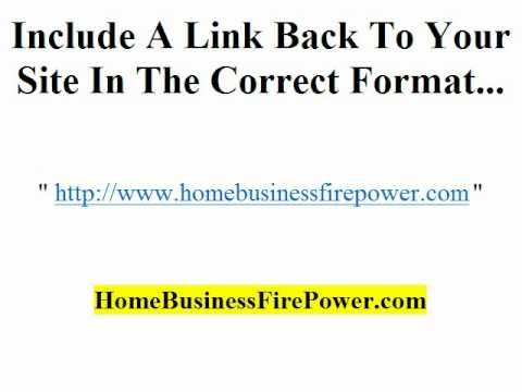 Article Marketing Author Box Traffic Tip - Ideal Resource Box Video