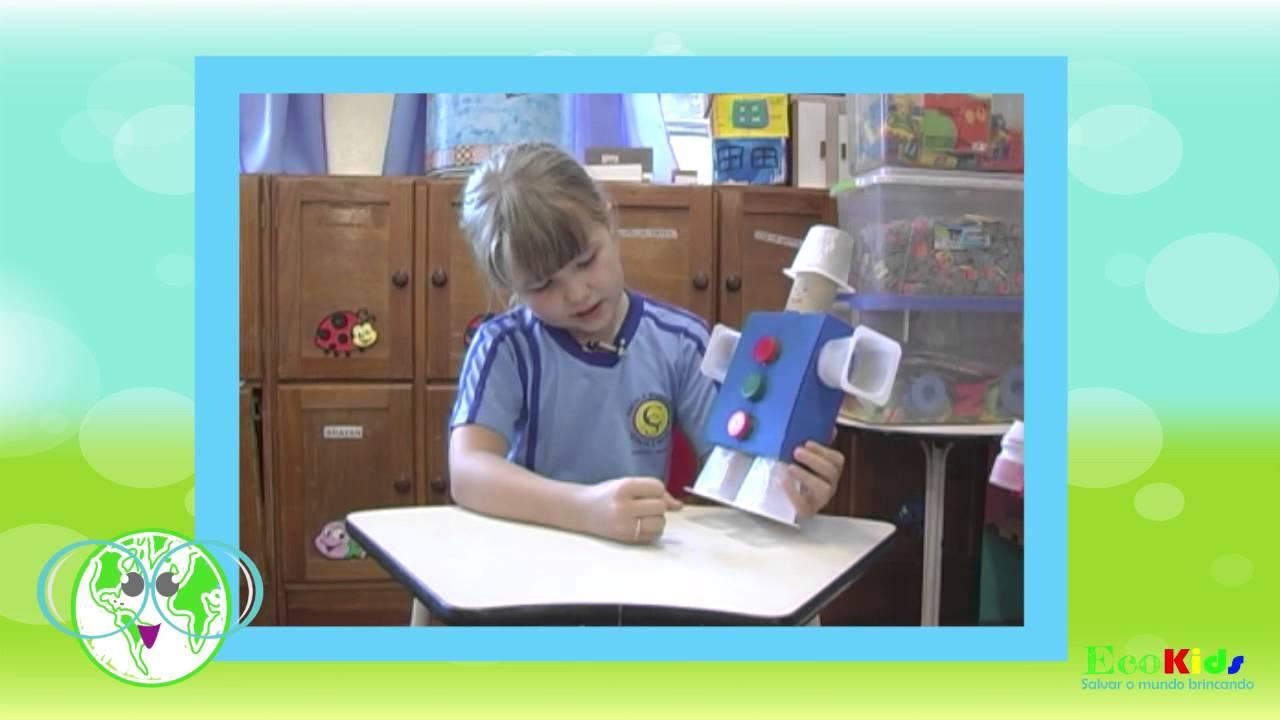 A Bruna Vai Ensinar A Fazer Um Lindo Robô Com Materiais Reciclados