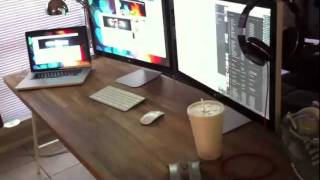 3 Monitor - Macbook Pro With Daisy Chained Thunderbolt Display 2x