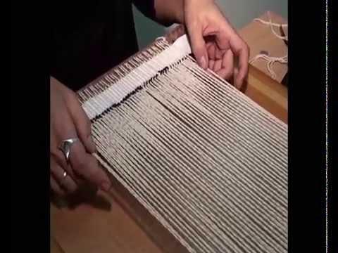 Уроки ткачества. Часть 1. Как начать работу над гобеленом.