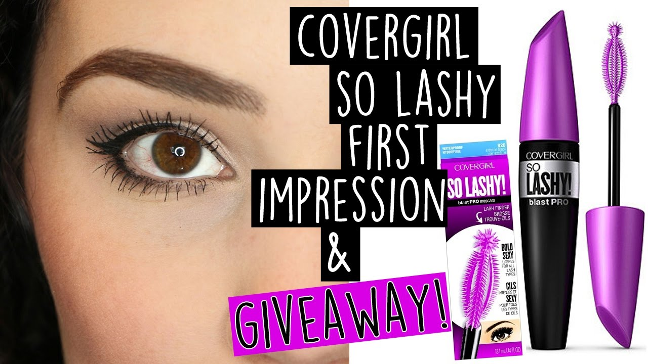86474468a18 Covergirl So Lashy Mascara First Impression + GIVEAWAY! - YouTube