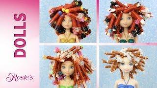 Disney Merida Multi Doll Makeover - Hair Repair and Re-curling
