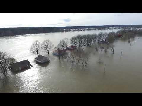 February 25, 2019 Flooding at Arnold lane and Narrows lane below Pickwick dam
