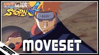 Naruto Ultimate Ninja Storm 4 - Pain COMPLETE Moveset