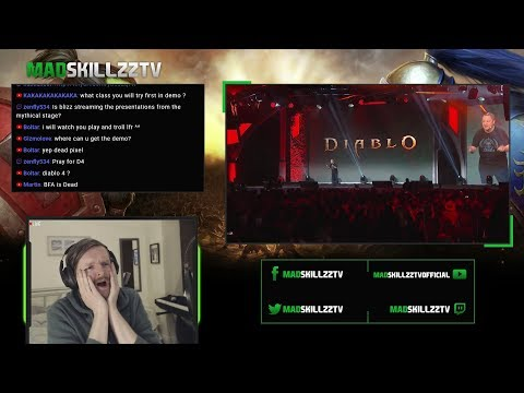 NEW DIABLO *MOBILE* GAME! Live Reaction - IS THIS REAL? | Diablo: Immortal - BlizzCon