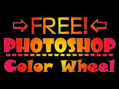 Free Painter's Color Wheel (Extension) For Adobe Photoshop CS6 (CS 4 & 5 Too) Tutorial