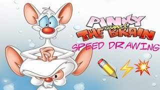 Speed Drawing: Pinky and the Brain