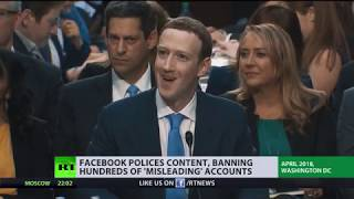 Facebook polices content, banning hundreds of 'misleading' accounts