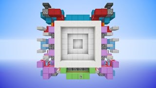 Minecraft: HUGE 6x6 Piston Vault Door [Tutorial]