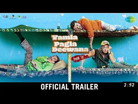 #Yamla Pagla Deewana Phir Se   Trailer   Dharmendra   Sunny Deol   Bobby Deol   Navaniat Singh   