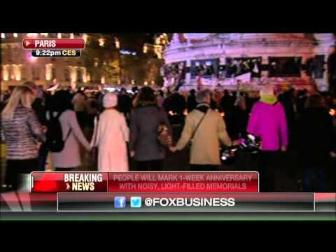 Mourners Commemorate The  Victims Of Paris Terror Attacks