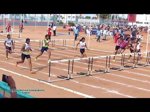 GIRLS U19  100m HURDLES  FINAL. 60Th TAMIL NADU STATE REPUBLIC DAY SPORTS MEET  - 2017-18
