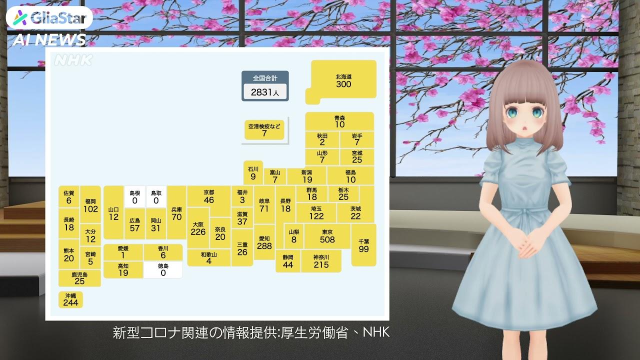 【新型コロナ】全国で新たに2831人の感染発表(令和2年6月3日)