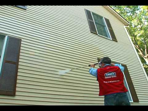 How to power wash your house youtube for How to wash your house exterior
