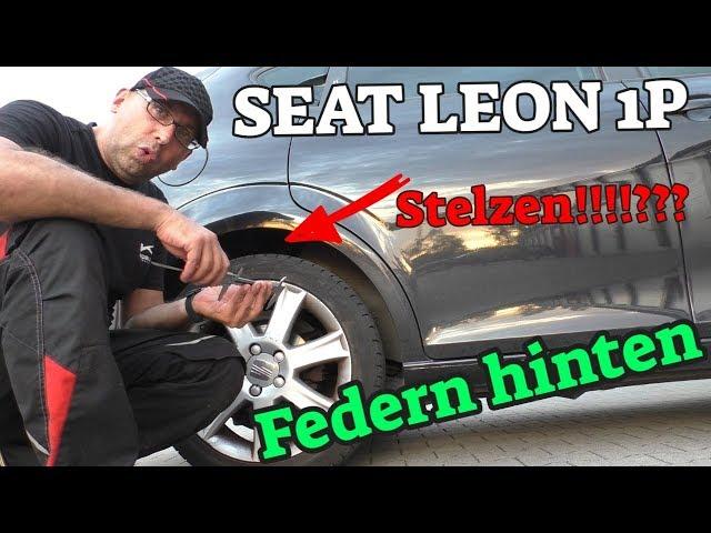 steht er auf Stelzen? - Federn hinten - Seat Leon 1P