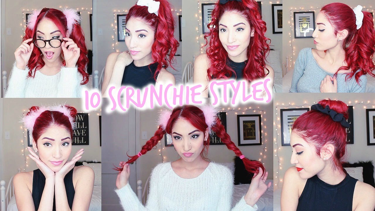 Scrunchie Hair Styles: SCRUNCHIE HAIRSTYLES