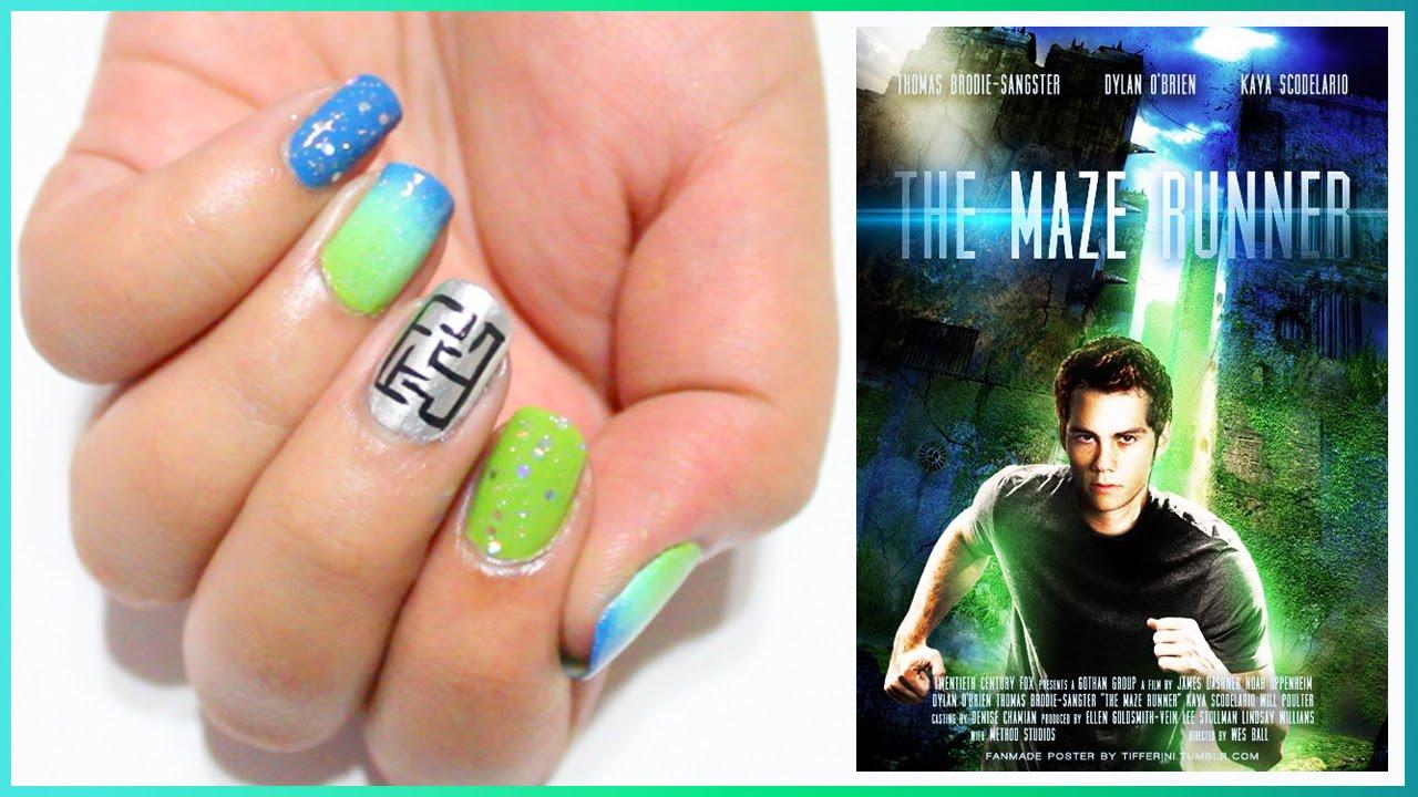 THE MAZE RUNNER Nail Art - YouTube