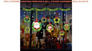 Wall Stickers Christmas Removable Wall Sticker Adornment Wall Glass Wi