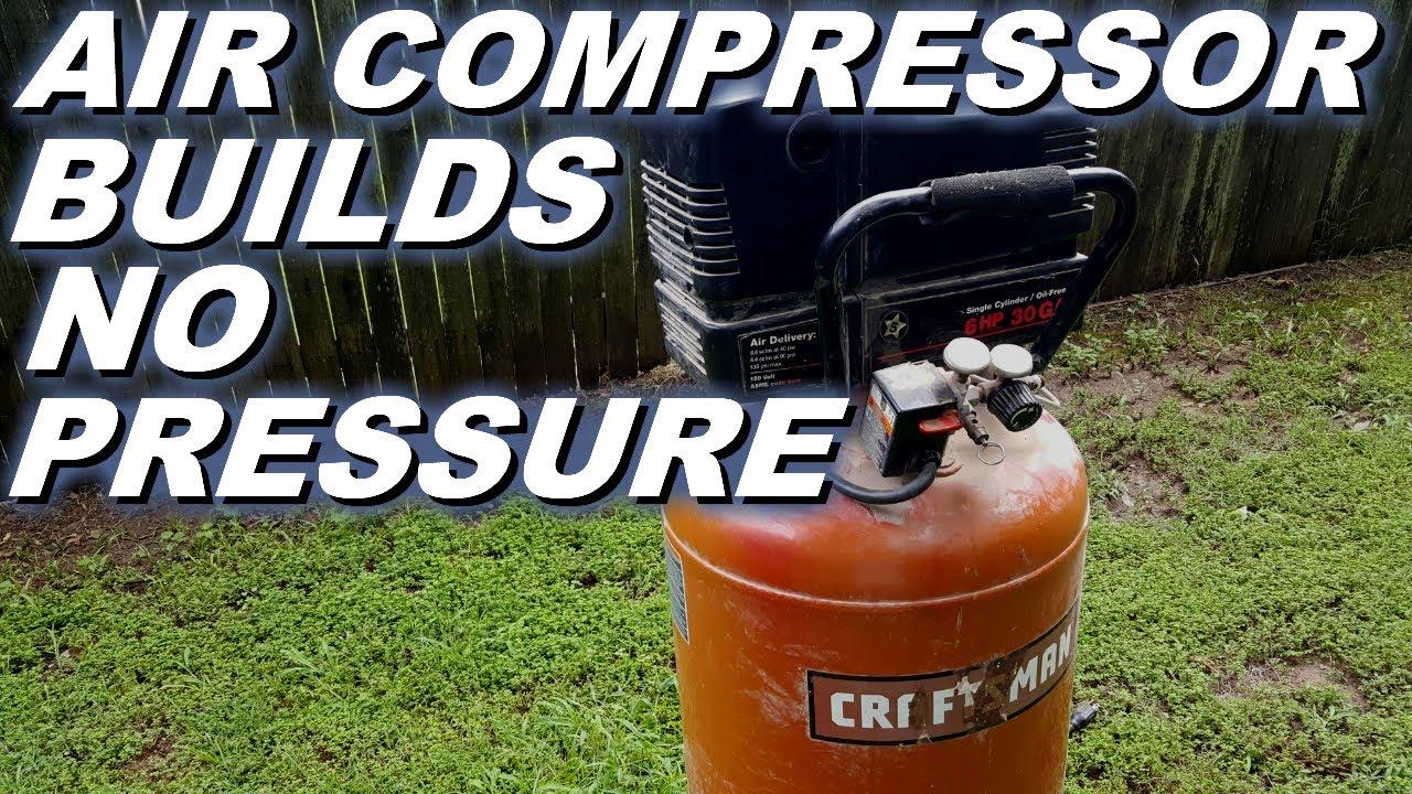 Craftsman air compressor runs but doesn't make pressure  Not so simple fix   Rebuild pump
