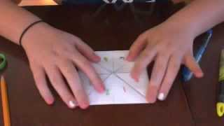 How to make a fortune teller out of printer paper step by step
