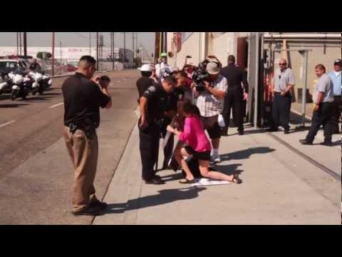 FARM's World Farm Animals Day - Farmer John Protest and Arrest - RAW FOOTAGE