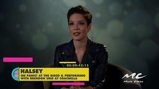 Halsey on Performing with Brendon Urie at Coachella! Video