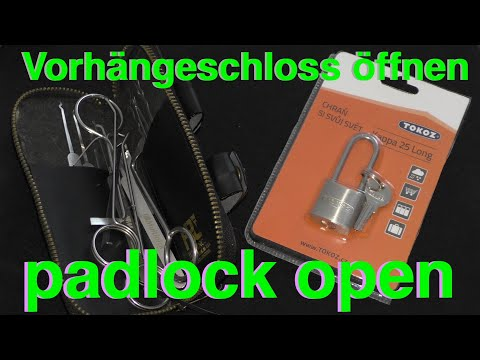Vorhangeschloss Fahrradschloss Offnen Padlock Open Turschloss