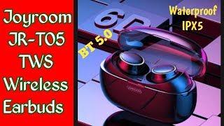 JOYROOM JR-T05 TWS Wireless Earbuds Unboxing. IPX5 Waterproof BT 5.0/ 1500 mAh Charging case