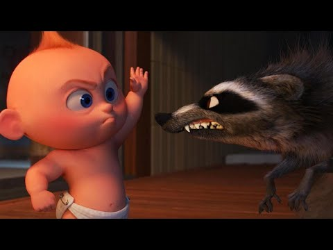 Incredibles 2 Fight Scene in Full: Jack-Jack vs. Raccoon (Ex