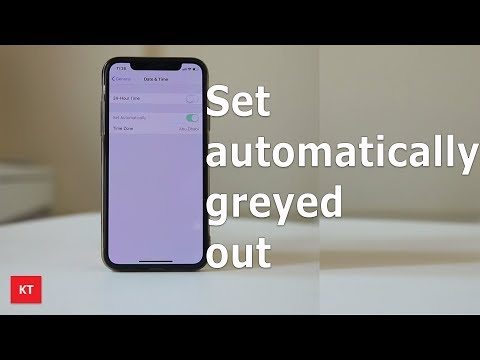 Set Automatically Date And Time Greyed Out In IPhone | Can't Change Date And Time Manually