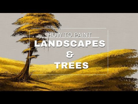 How to paint Landscapes and Trees - Photoshop Tutorial with the MA-Brushes