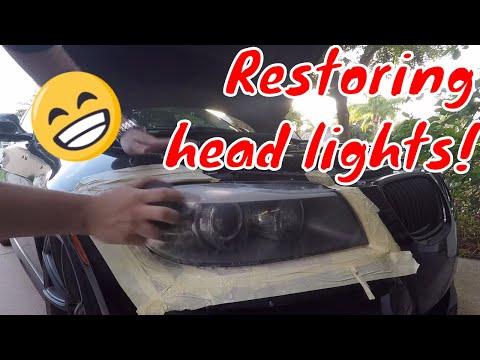 Meguiars Heavy Duty Headlight Restoration Kit review FIX FOGGY HAZY YELLOW HEADLIGHTS