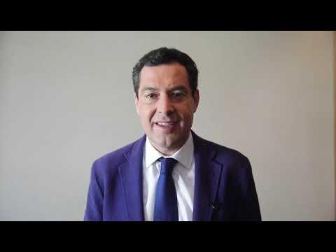 El presidente de la Junta de Andalucía se suma a la campaña del PP de Ceuta