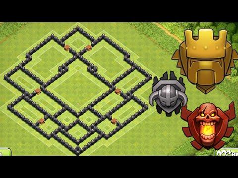 Clash of Clans - Town hall 8 (Th8) Trophy Base + War + Defence - Anti Golem, Anti Dragon, Anti Hog