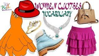 Vocabulary Practice | Women Clothing vocabulary| Toddler Learning | Kids Vocabulary