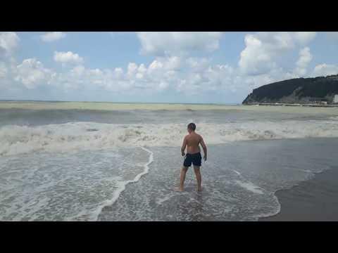 Новомихайловский пляж 2017 год 29 июля