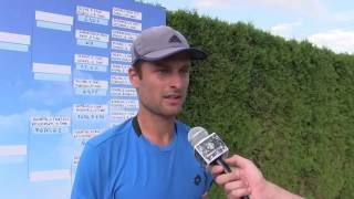 Petr Michnev po výhře ve druhém kole na turnaji Futures v Pardubicích