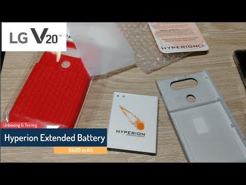 Hyperion LG V20 Extended Battery and Back Cover
