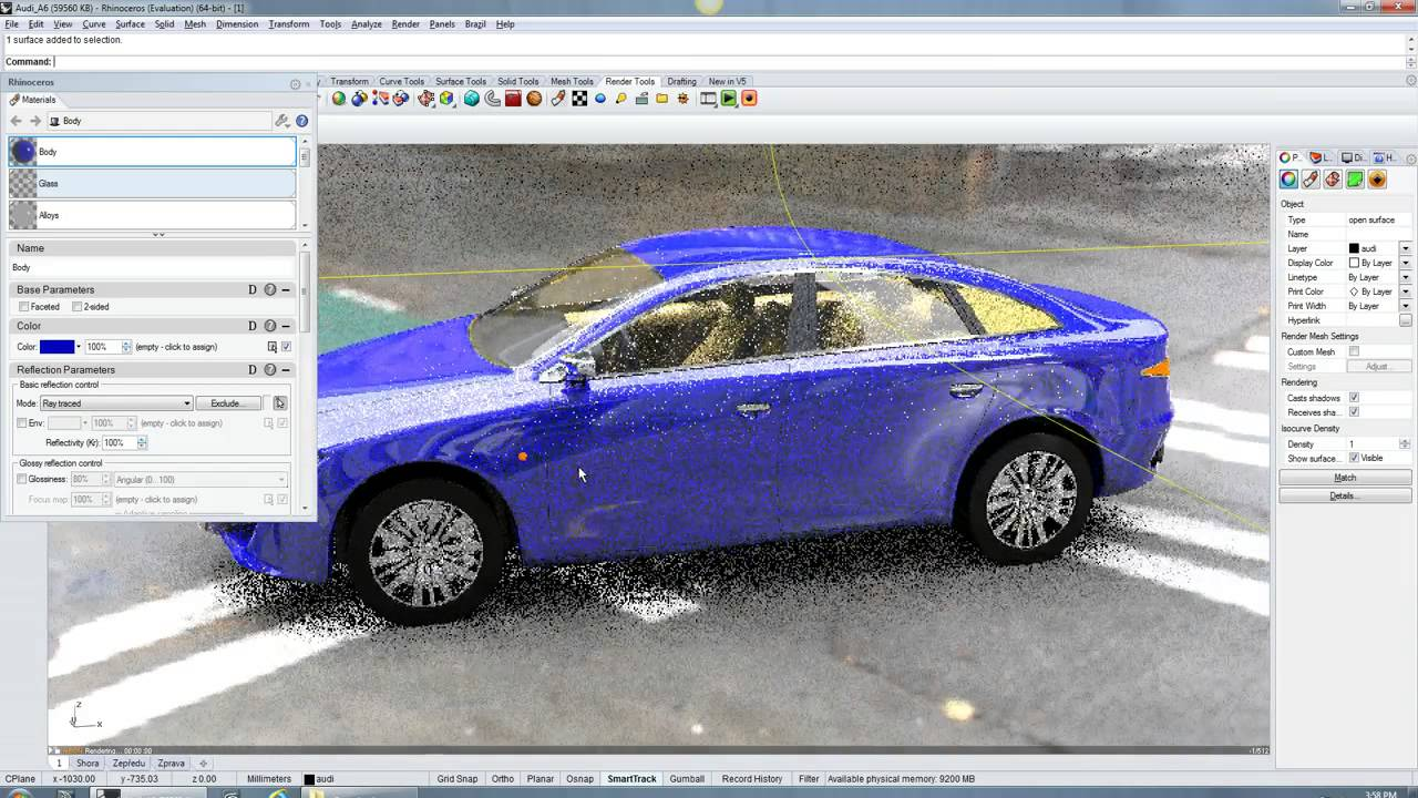 Ray tracing with the Neon plugin for Rhino v5 and the