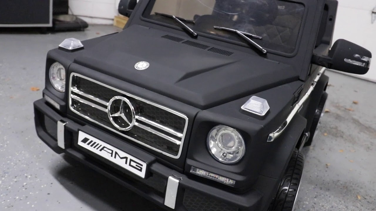 medium resolution of unboxing lets play mercedes amg g65 ride on by best choice products